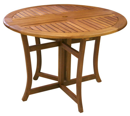 Outdoor Interiors Eucalyptus Folding Dining Table, 48""