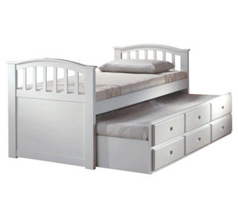 San Marino White Twin Bed & Trundle by Acme Furniture - H356080