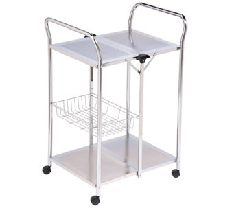 Honey-Can-Do Chrome Folding Utility Table - H356480