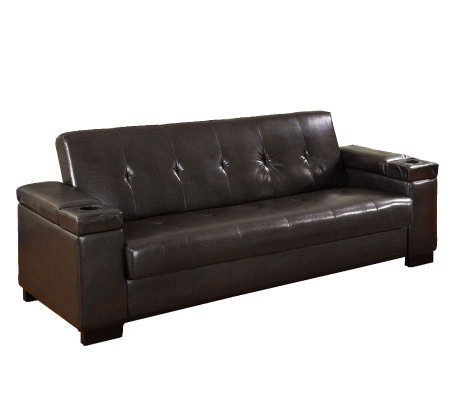 Logan Faux Leather Futon Sofa Bed