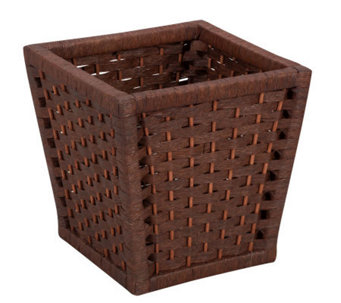 Household Essentials Paper Rope Wood Handle Basket - H157281