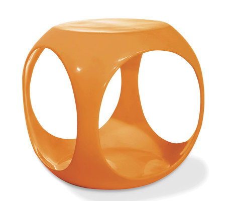 Avenue Six Slick Cube Occasional Table - Orange