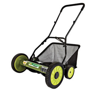 "Sun Joe Mow Joe 18"" Push Reel Mower w/Catcher - H188081"