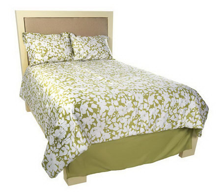 Home Reflections Floral 4-pc. QN Reversible Comforter Set