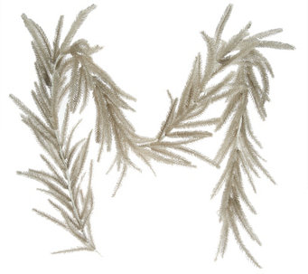 6' Glittered Antiqued Bottle Brush Garland - H209281