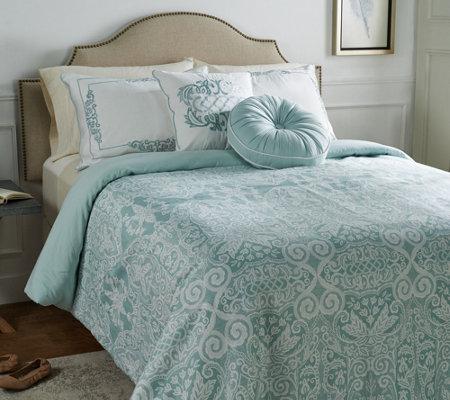 casa zetajones signature lace queen comforter set