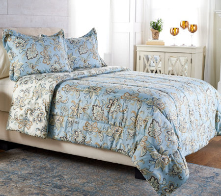 """As Is"" Anniversary 3pc King Jacobean Comforter Set by Valerie"