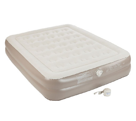 AeroBed Extra-High Air Bed w/Carry Bag & Built-In Pump - Quee