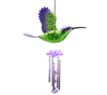 Exhart Large WindyWings Hummingbird Wind Chime - H284281