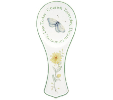 Lenox Butterfly Meadow Sentiment Spoon Rest