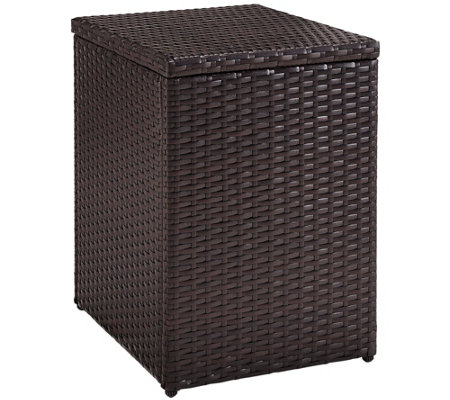 Palm Harbor Outdoor Wicker Rectangular Side Table