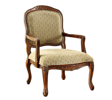 Quintus Oak Finish Accent Chair