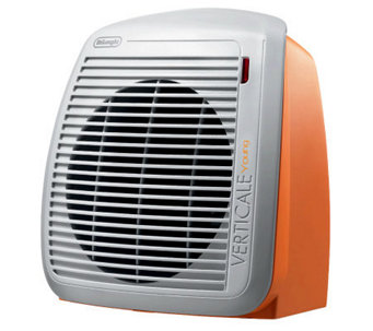 DeLonghi 1500-Watt Fan Heater - Orange with Gray Face Plate - H365681