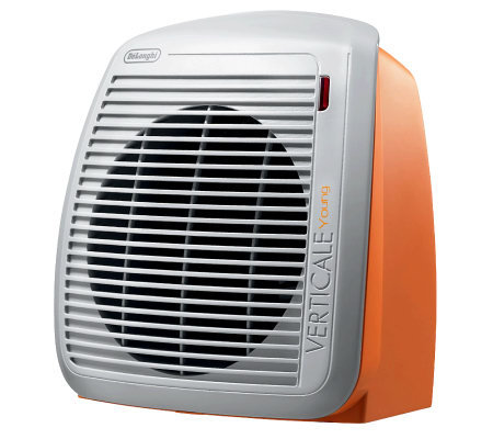 DeLonghi 1500-Watt Fan Heater - Orange with Gray Face Plate