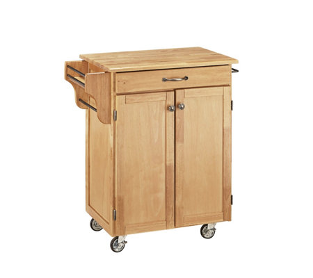 Home Styles Cuisine Cart Natural Finish