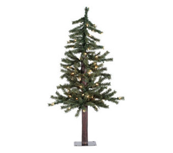 36 Prelit Natural Alpine Tree w/ Clear Lights by Vickerman - H155282