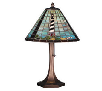 Tiffany Style Lighthouse Table Lamp - H181382