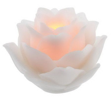home reflections lotus flower flameless candle u0026 timer - Flameless Candles With Timer