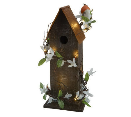 "Bethlehem Lights Battery Op. 16"" Birdhouse w/ Lights"