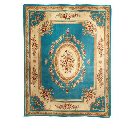 Royal Palace Rose Medallion 7 9 Quot X9 9 Quot Handmade Wool Rug