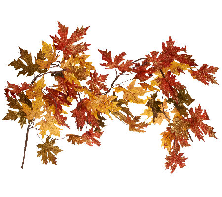 5' Glitter Maple Leaf Garland by Valerie