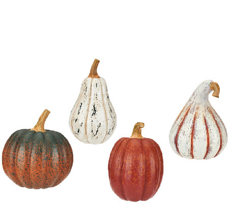 ED On Air Set of 4 Harvest Pumpkins by Ellen DeGeneres