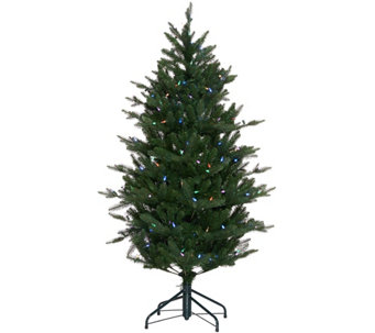 """As Is"" Santa's Best 5' RGB 2.0 Green Balsam Fir Christmas Tree - H210282"