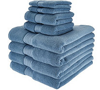 Northern Nights 8 Piece Luxury 100% Cotton Generous Size Bath Towel Set - H210882
