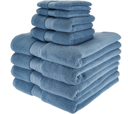 Northern Nights 8 Piece Luxury 100% Cotton Generous Size Bath Towel Set