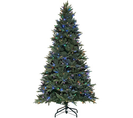 """As Is"" Santa's Best 7.5' RGB Blue Spruce Tree with 64 Functions"