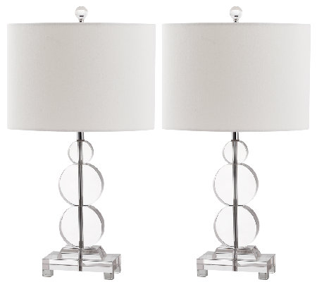 Set of 2 Moira Crystal Table Lamps by Safavieh