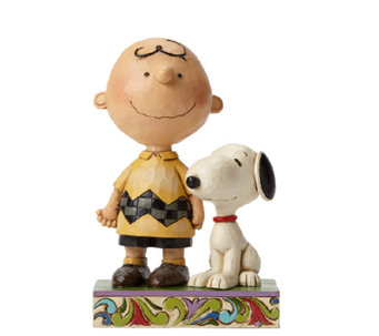 Jim Shore Heartwood Creek Friendship Charlie Brown Figurine - H286082