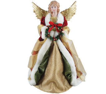 "16"" Christmas Angel Tree Topper by Santa's Workshop - H288982"