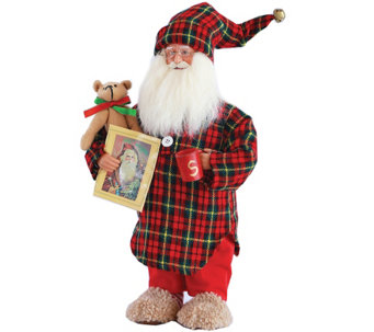 "15.5"" Night Shirt Santa by Santa's Workshop - H289582"