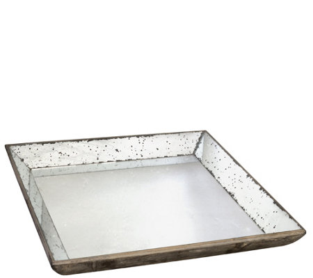 "20"" Square Mirrored Tray by Valerie"