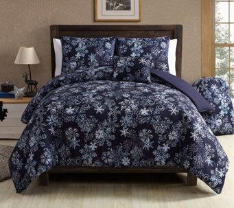 VCNY Home Scroll Snowflake 5-Piece Full/Queen Comforter Set - H290782