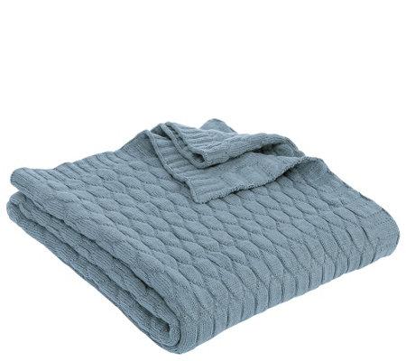 Berkshire Blanket Cotton Blend Knit Throw — QVC.com