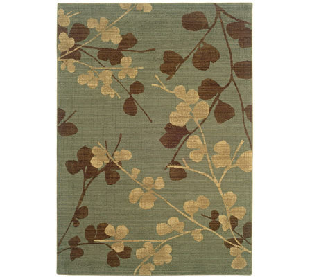 Sphinx Silk Flowers 4' x 6' Wool Rug by Oriental Weavers