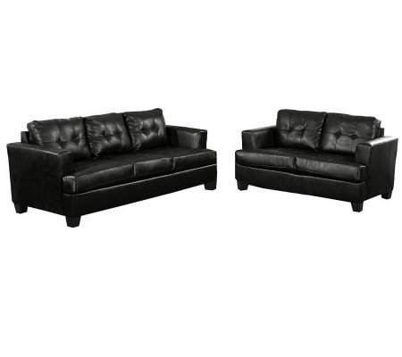 Bonded Leather Sofa Set by Acme Furniture