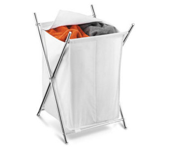 Honey-Can-Do Chrome X-Frame Double Hamper - H356582