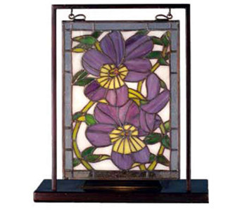 Tiffany Style Pansy Mini Window Display - H124483