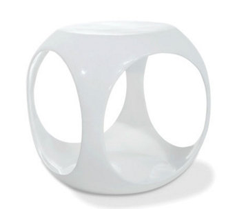 Avenue Six Slick Cube Occasional Table - White - H175783