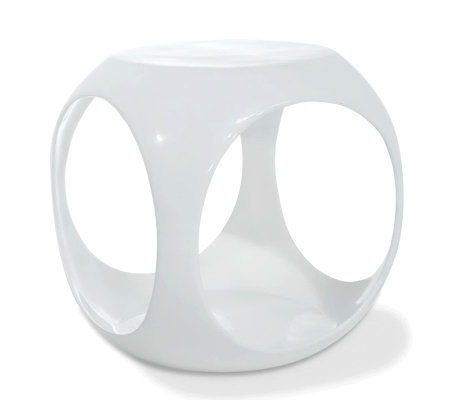 Avenue Six Slick Cube Occasional Table - White
