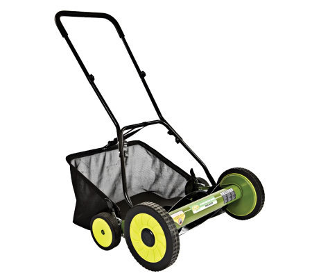 "Sun Joe Mow Joe 20"" Push Reel Mower w/ Catcher"