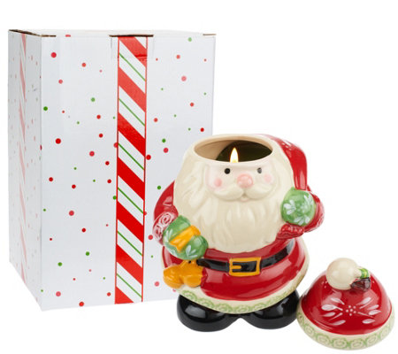 Temp-tations 23 oz. Ceramic Holiday Figural Candle with Gift Box