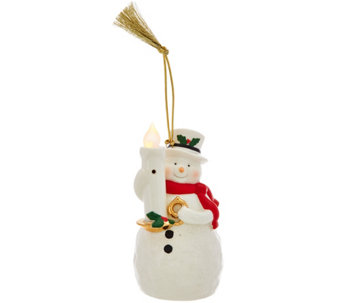 Lenox Wireless Porcelain Blow Out The Candle Holiday Ornament - H208583