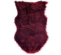 LOGO by Lori Goldstein Faux Sheepskin Rug and Layering Piece - H208883
