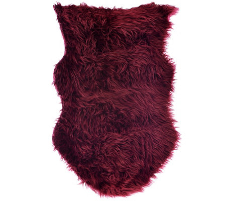 LOGO by Lori Goldstein Faux Sheepskin Rug and Layering Piece