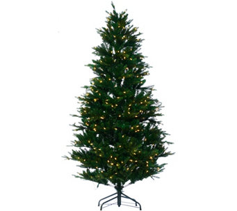 """As Is"" Santa's Best 7.5' RGB 2.0 Green Balsam Fir Christmas Tree - H210283"