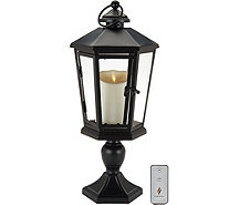 "Luminara 17"" Windsor Lantern with Pedestal & Flameless Candle - H210883"